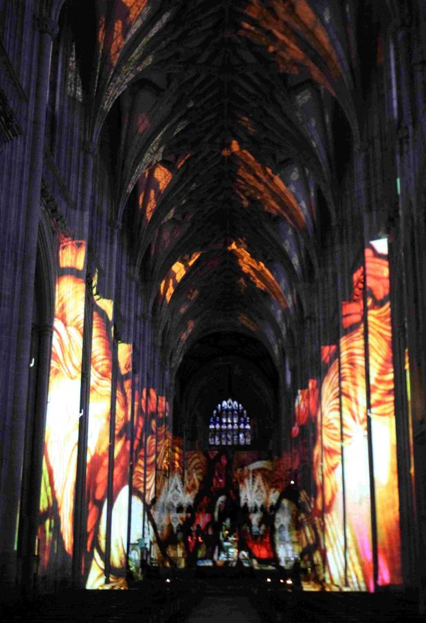 Chronicles of Light in the cathedral