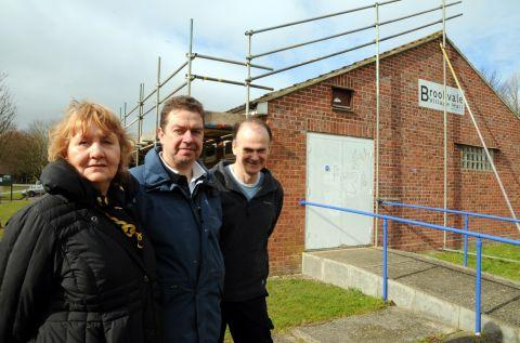 From left: Cathy Williams, Andy Molloy and Martin Heath at Brookvale Village Hall