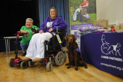 Michael Henbury with Nicola at a fundraiser for canine partners