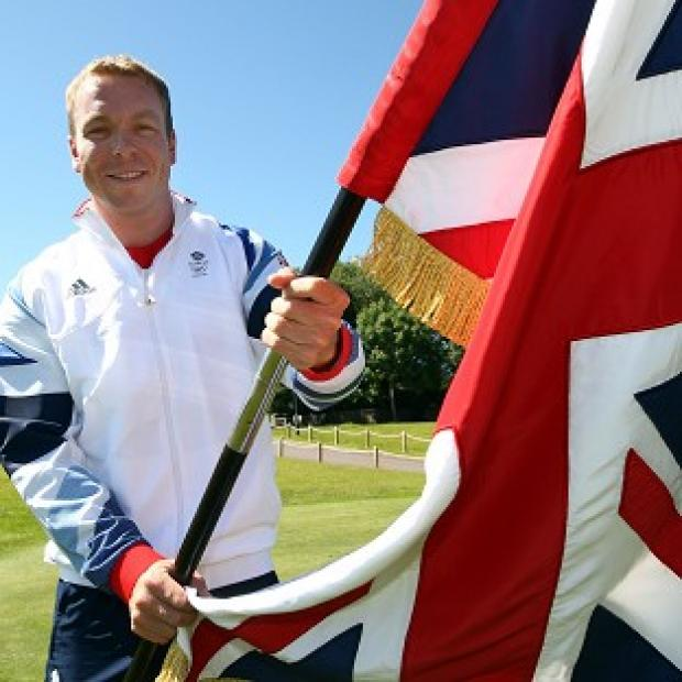 Sir Chris Hoy after he was announced as Team GB flagbearer at Friday's opening ceremony of the London 2012 Olympics