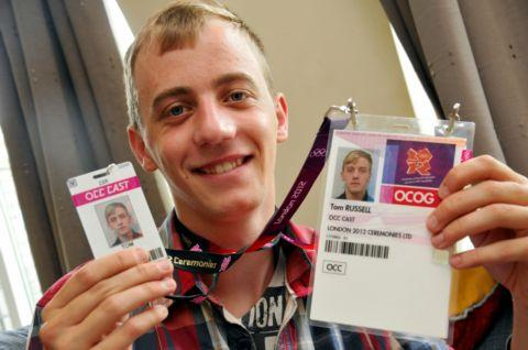 Tom Russell, 21, with London Olympic 2012 cast identification