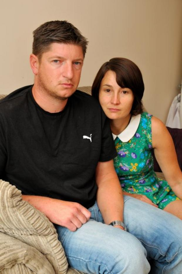 Victim Neil Child at home with his wife Sharon