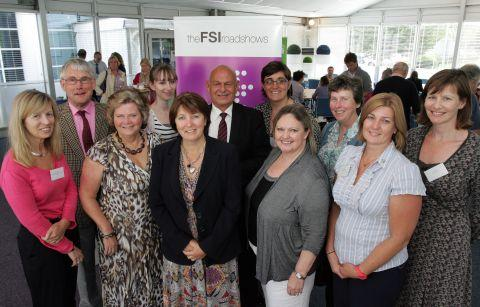 Pauline Broomhead - front third right - with participants at the roadshow