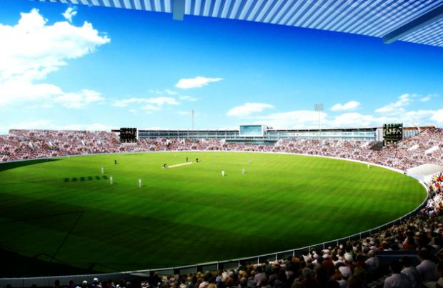 An artist's impression of how the Ageas Bowl hotel will look when finished