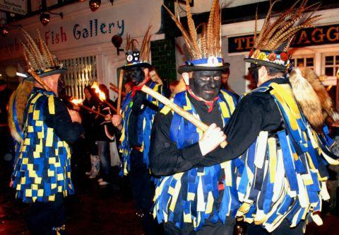 The wassail procession is a feature of Hartley Wintney life