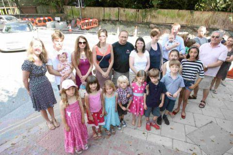 Winchester residents celebrate crossing campaign success with party