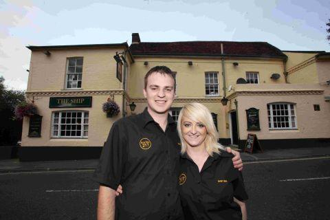 Rob and Hannah Plunton are the new landlords at The Ship Inn.