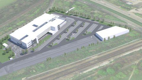An artist's impression of the proposed new signalling centre