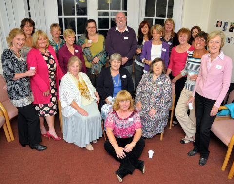 Long-serving Home Start volunteers at the awards evening in Homeport House, Basingstoke