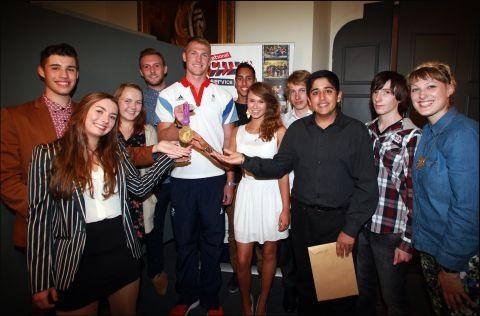 Olympic gold medal-winning rower Alex Gregory meets Hampshire youngsters, who took part in the National Citizen Service scheme