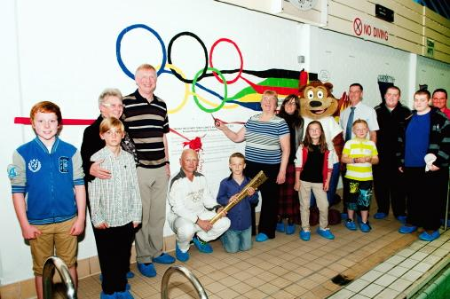Olympic mural makes a splash at leisure pool