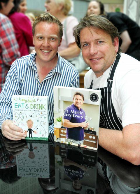 Olly Smith and James Martin in Festival Place