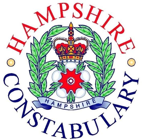 A police motorcyclist is fighting for his life in Southampton General Hospital after a crash on the A31 on Monday