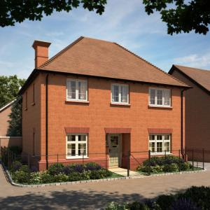 A computer generated image of the four-bedroom Walmesley at Abbotts Walk, which will be ready to move into in time for Christmas.