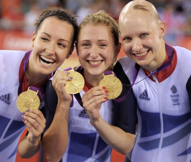 Dani King, Laura Trott and Jo Rowsell