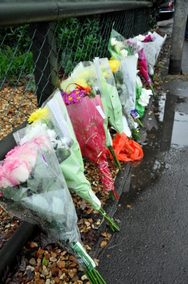 Flowers laid at Silchester Road