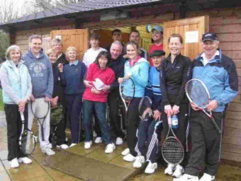 Wellow tennis players enjoy the Christmas competition