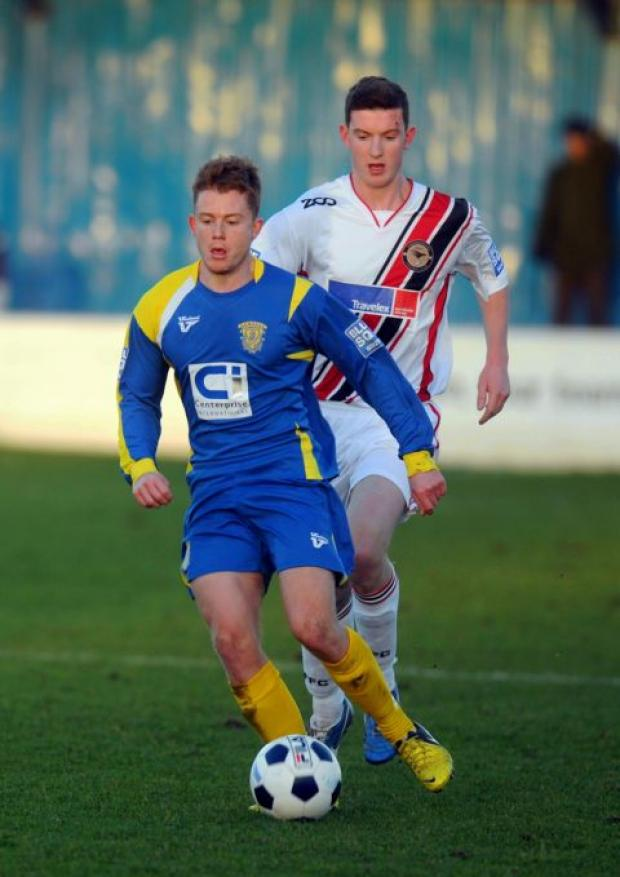 Simon Dunn had an excellent game against Farnborough.