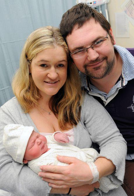Kate and Daniel Cooper with baby daughter Isabelle