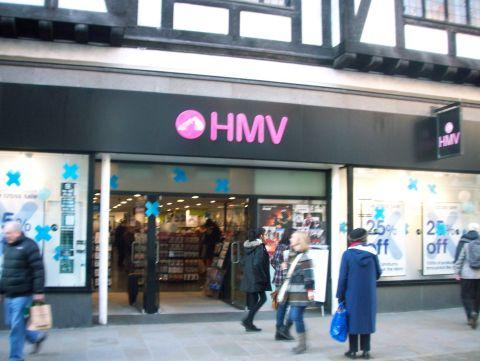 HMV in Winchester High Street is not on a list of 66 shops to close across the country