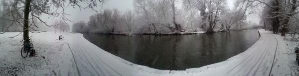 Riverside Park in the snow