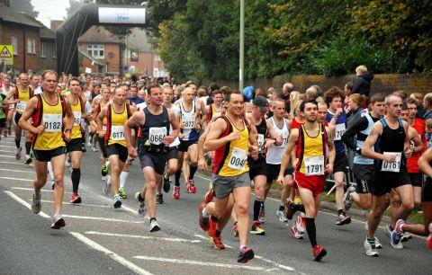 Runners at the start of the half-marathon in 2012