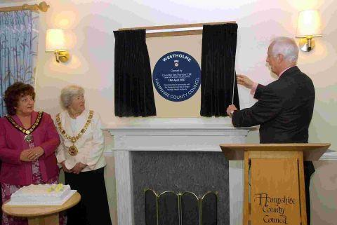 Council leader Ken Thornber officially opened Westholme Care Home, Harestock, in 2007