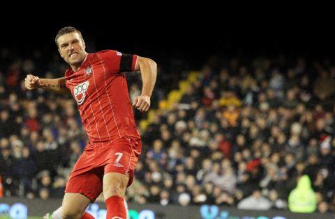 Rickie Lambert celebrates another goal.