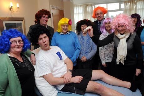 Staff at St Michael's Hospice