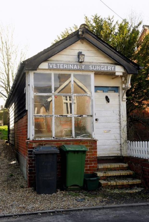 The old veterinary centre in Hill Road, Oakley