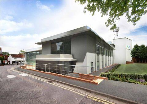 An artist's impression of the new-look Southern Electric offices in Winchester Road