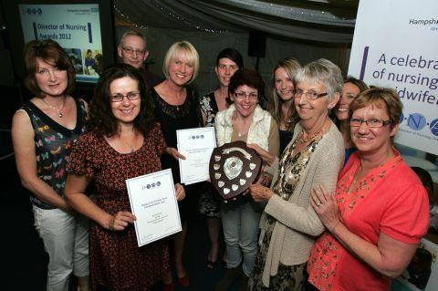 Sally Taylor, of BBC South Today, with some of the winners at last year's event