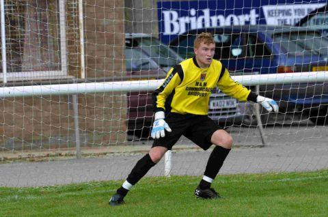 BACK IN THE ACTION: Bridport keeper Sam Filkins returns