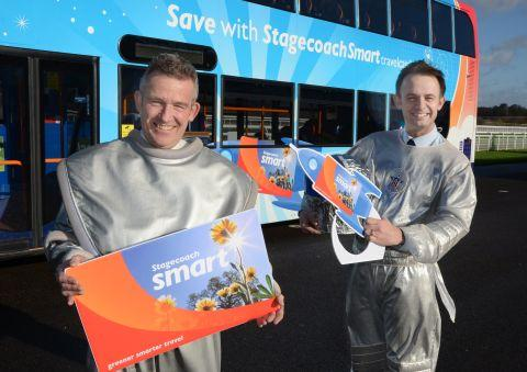 Stagecoach South managing director Andrew Dyer and operations director Tom Bridge launch StagecoachSmart