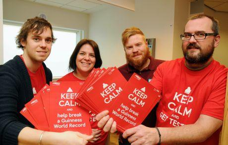 (From left)  Public relations co-ordinator for Solent NHS Trust Wesley Hutchins, finance manager Nicky Gehling, Basingstoke volunteer worker Lee Gorehm and sexual health team leader Andrew Smith