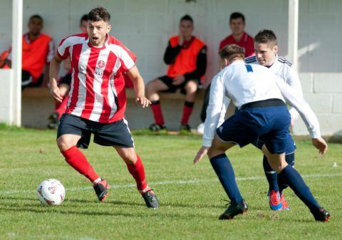 Luke Walker scored a hat-trick for Whitchurch.