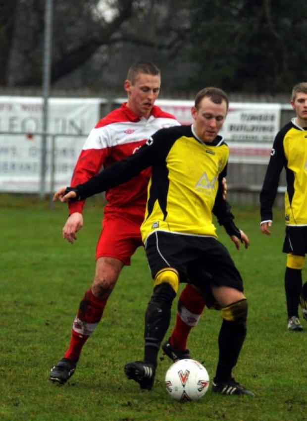 Danny Vickers had Tadley's best chances.