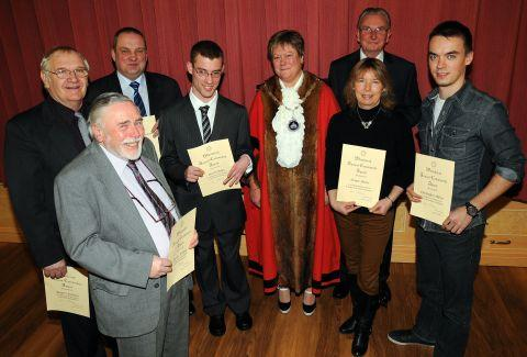 Whitchurch mayor Cllr Jackie Day with the Community Award winners