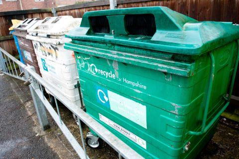 Glass recycling bottle banks in Eastrop Park are among those earmarked for removal