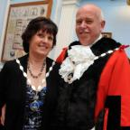Whitchurch Mayor John Clark and Mayoress Rosemary Crumplin