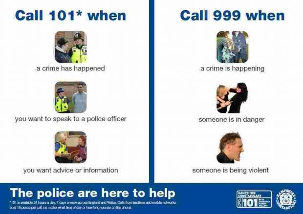 The poster is aimed to help people with learning difficulties make both emergency and non-emergency calls.